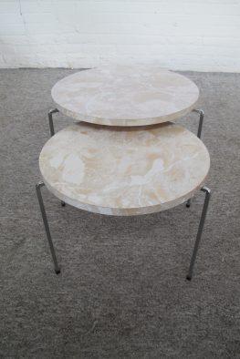 Pastoe Spectrum Bijzettafeltjes Side tables miniset nesting tables vintage midcentury