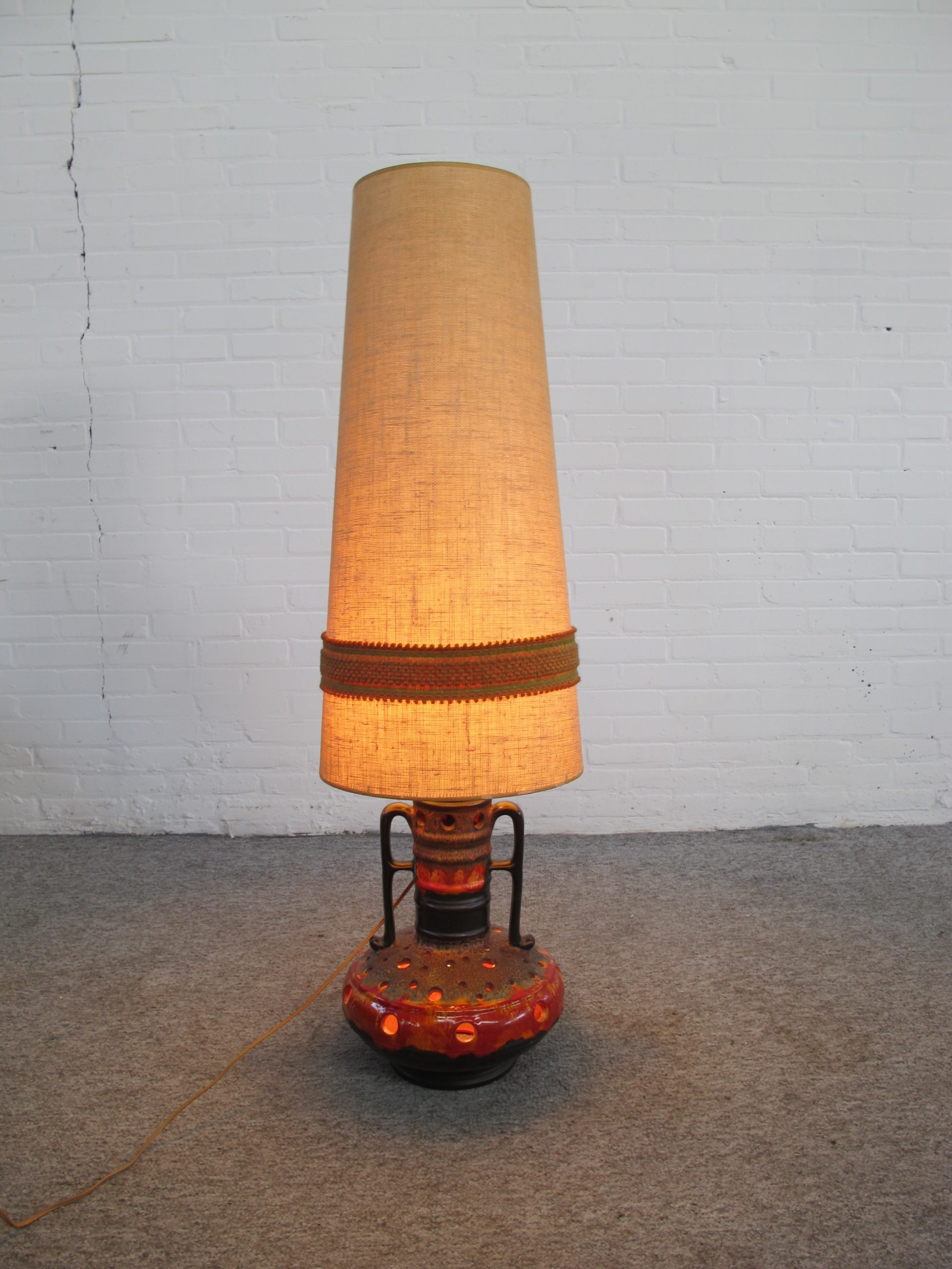 Lamp Walter Gerhards West Germany fat lava vloerlamp vintage midcentury