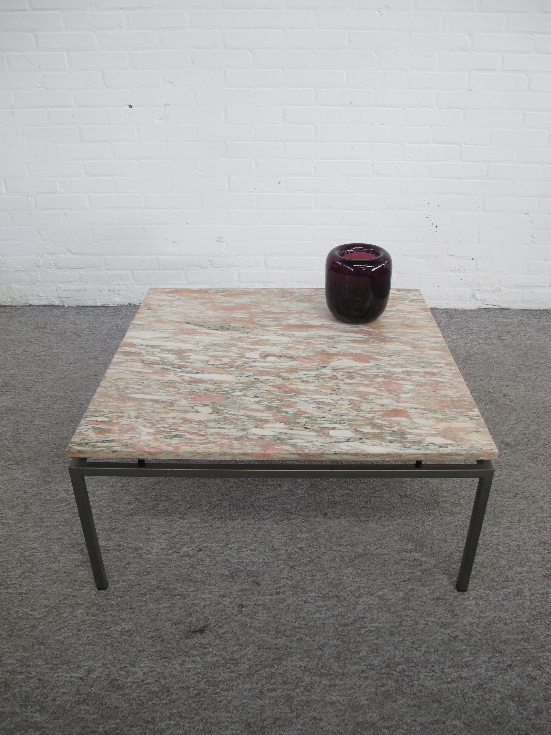 Marmer salontafel Marble coffee table Gerard van den Berg Spectrum vintage midcentury