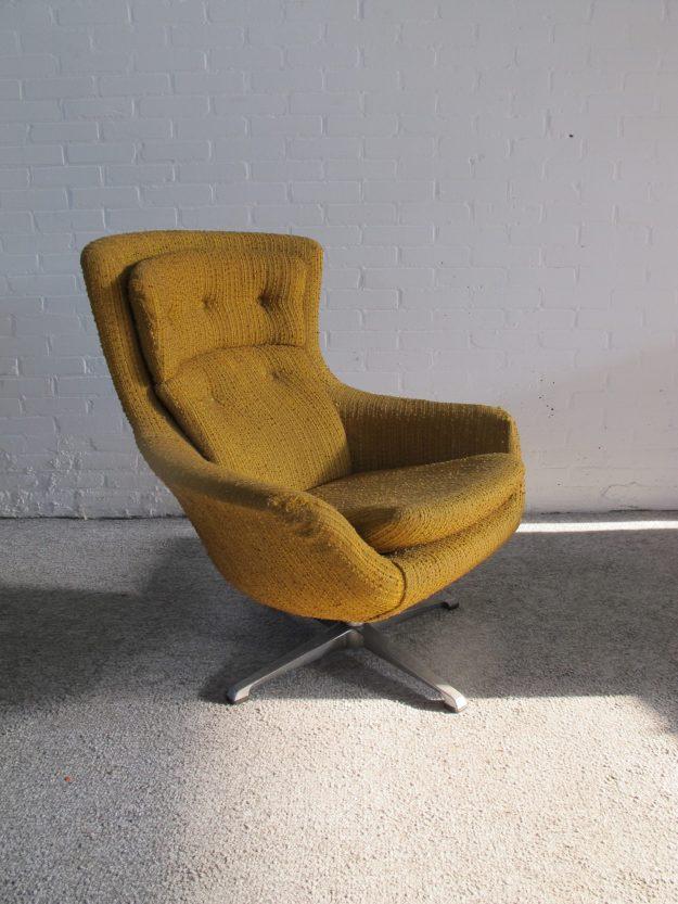 Scandinavische Egg lounge chair relax swivel chair fauteuil vintage midcentury