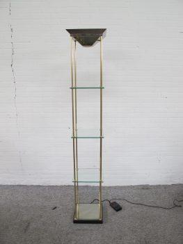 Vitrine kast lamp DeKnudt Willy Rizzo Hollywood Regency stijl vintage midcentury