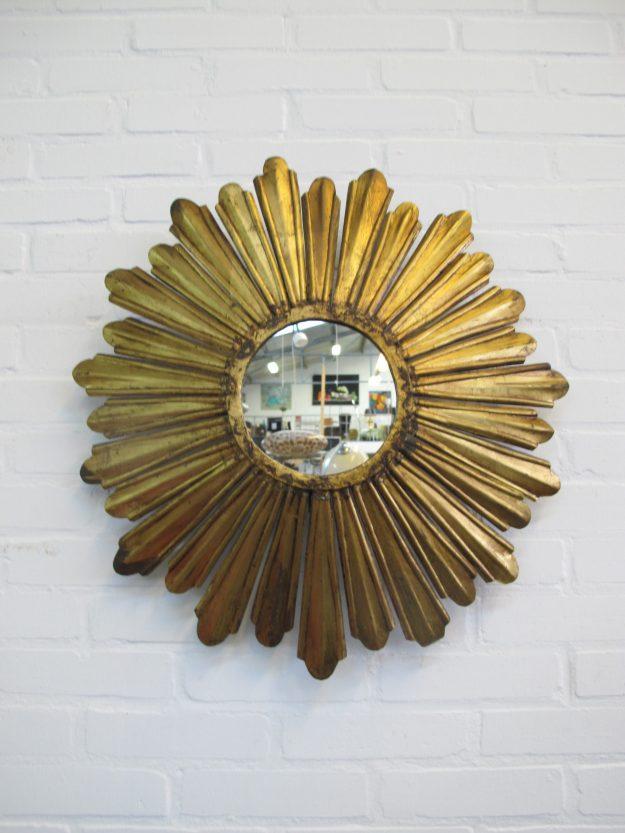 Zonnen spiegel mirror Hollywood Regency vintage midcentury