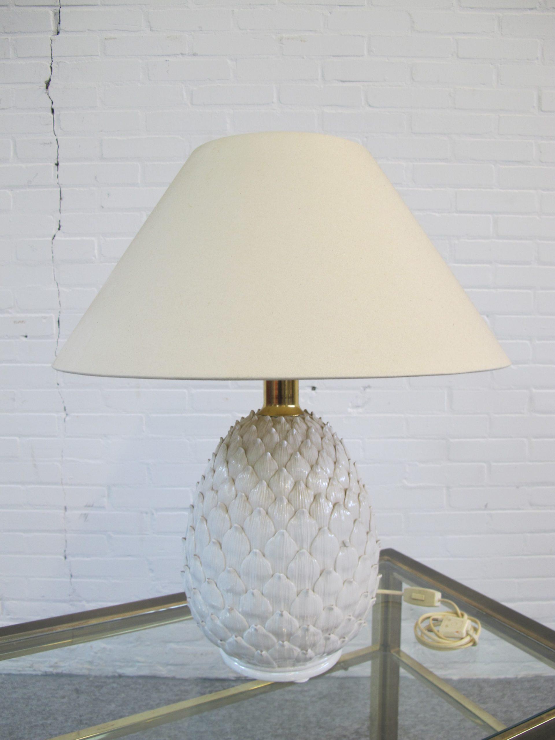 annanas lamp Pineapple table lamp Hollywood Regency vintage midcentury