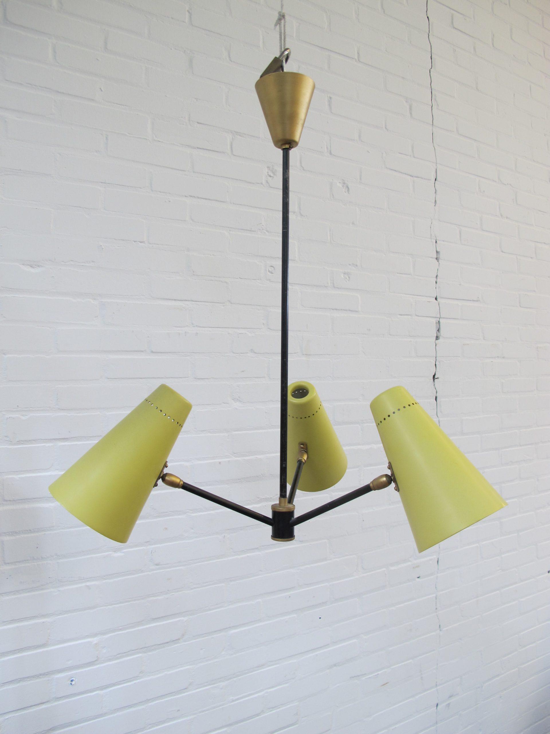 Lamp hanglamp Fog & Mørup hanging lamp vintage midcentury