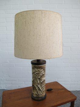 lamp West Germany keramiek ceramic horses table lamp vintage midcentury