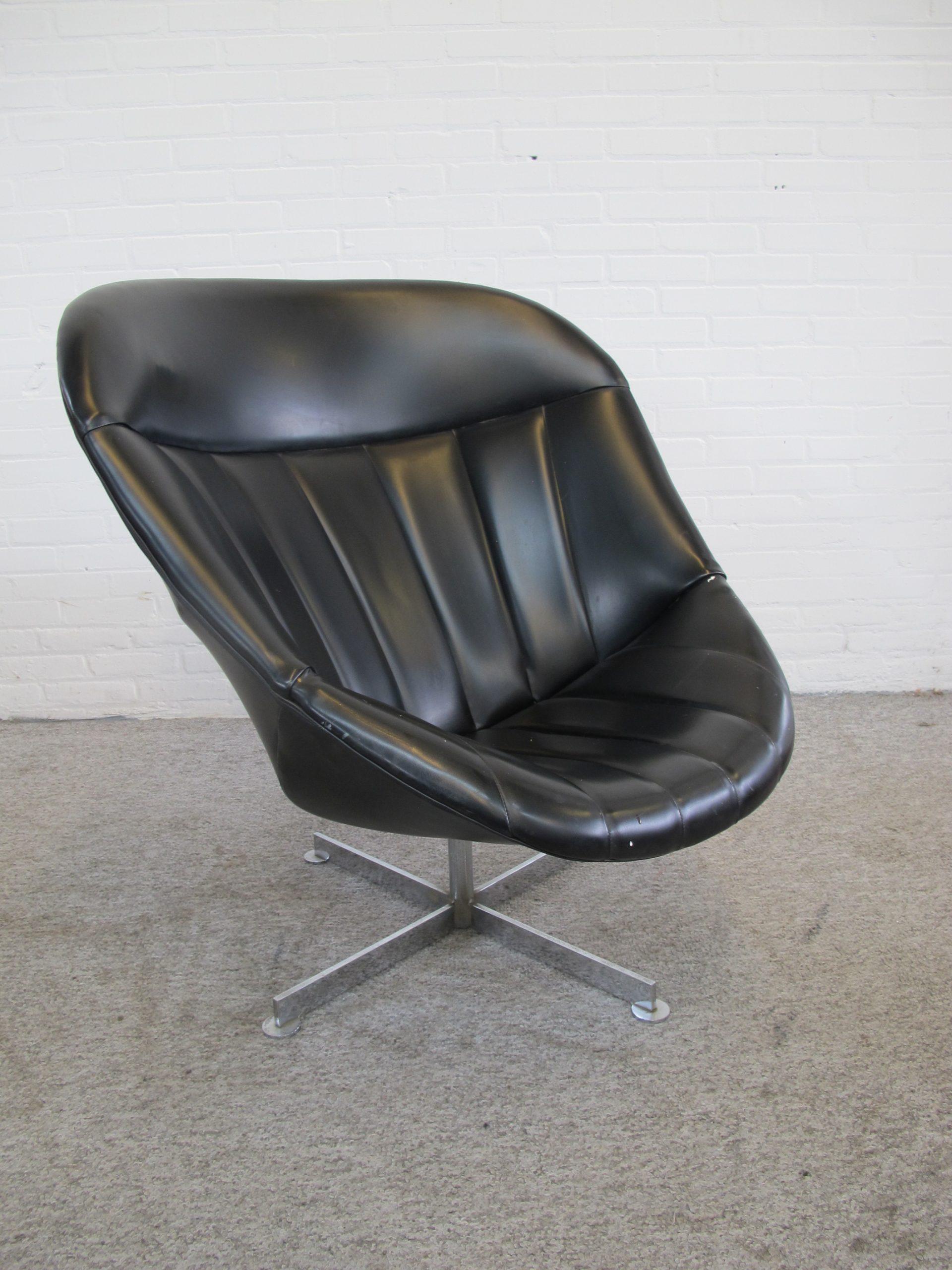 Draai fauteuil swivel armchair Rudolf Wolf Rohe Noordwolde vintage midcentury